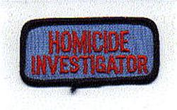 Misc: Homicide Investigator Patch (tab)