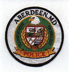Aberdeen Police Patch (black edge) (MD)