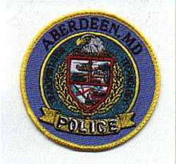 Aberdeen Police Patch (uniform take off) (yellow edge) (MD)