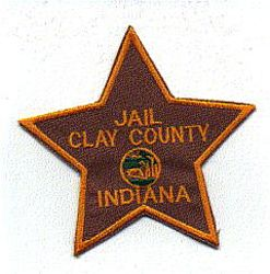 Clay County Jail Patch (gold letters/edge) (IN)
