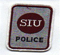 School: IL, Southern Illinois Univ. Patch (white letters, new)