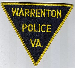 Warrenton Police Patch (black felt, yellow edge) (VA)
