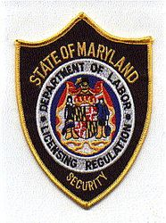 Maryland Security Dept. of Labor Patch (MD)