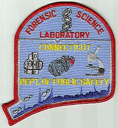 Forensic Science Lab Dept. of Public Safety Patch (CT)