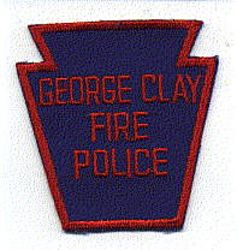 George Clay Fire Police Patch (PA)