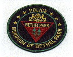 Bethel Park Borough Police Patch (green edge, round) (PA)