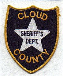 Sheriff: KS, Cloud Co. Sheriffs Dept. Patch (white star)