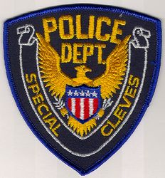 Special Cleves Police Patch (blue edge) (OH)