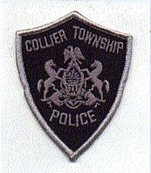 Collier Twp. Police Patch (grey edge, small) (PA)