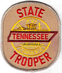 State: TN, State Trooper Patch (tan)