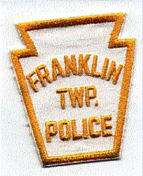 Franklin Twp. Police Patch (white/yellow, keystone shape) (PA)