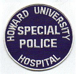 Howard Univ. Hospital Special Police Patch (VA)