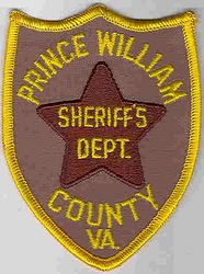 Sheriff: VA. Prince William Co. Sheriffs Dept. Patch (small)