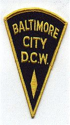 Baltimore City D.C.W. Patch (MD)