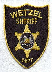 Sheriff: WV. Wetzel Sheriffs Dept. Patch (black/gold)