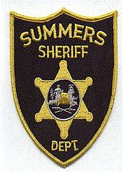 Sheriff: WV. Summers Sheriffs Dept. Patch (black/gold)