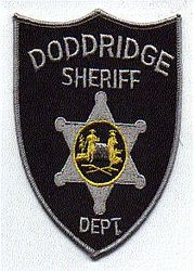 Sheriff: WV. Doddridge Sheriffs Dept. Patch (black/gray)