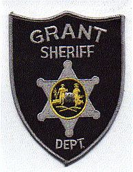 Sheriff: WV. Grant Sheriffs Dept. Patch (black/gray)
