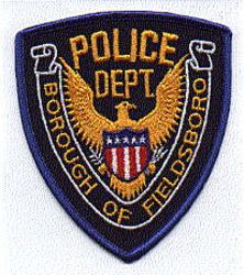 Borough of Fieldsboro Police Patch (blue border) (PA)