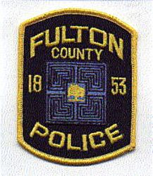 Fulton County 1853 Police Patch (GA)