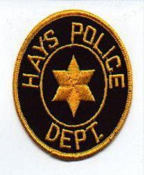 Hays Police Patch (KS)