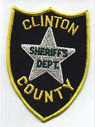 Misc: Clinton Co. Sheriffs Dept. Patch (yellow edge)