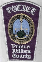 Prince William Co. Police Patch (County Seal, white edge) (VA)