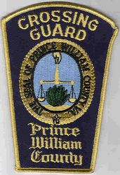 Prince William Co. Police Crossing Guard (county seal, brown edge)(VA)