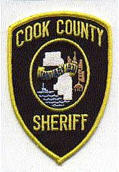 Sheriff: IL, Cook Co. Sheriffs Dept. Patch (black/yellow)