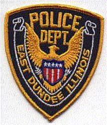 East Dundee Police Patch (gold edge) (IL)