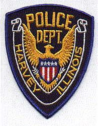 Harvey Police Patch (eagle)(IL)