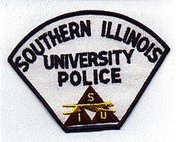 School: IL, Southern Illinois Univ. Patch (yellow letters, old)