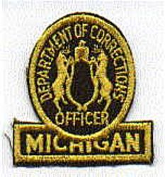 Dept. of Corrections Patch (officer)(cap size) (MI)