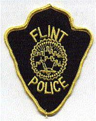 Flint Police Patch (yellow edge) (MI)