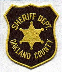 Sheriff: MI, Oakland Co. Sheriffs Dept. Patch