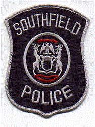 Southfield Police Patch (white edge)(MI)