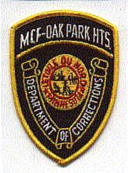 MCF Oak Park Hts. Dept. of Corrections Patch (MN)