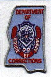 Dept. of Corrections Patch (large) (MS)
