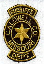 Sheriff: MO, Caldwell Co. Sheriffs Dept. Patch