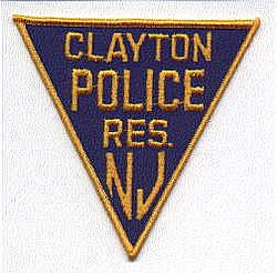 Clayton Reserve Police Patch (NJ)