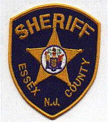 Sheriff: NJ, Essex Co. Sheriffs Dept. Patch(blk/gold,state seal)