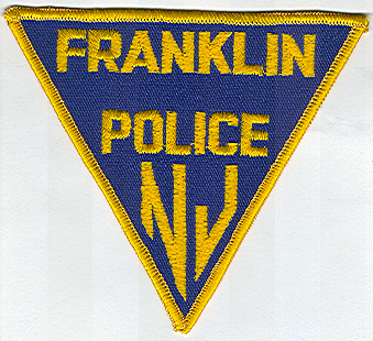 Franklin Police Patch (blue/yellow, triangular) (NJ)