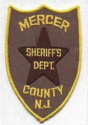 Sheriff: NJ, Mercer Co. Sheriffs Dept. Patch (brown/gold, star)