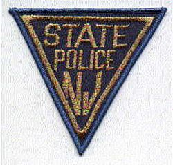 State: NJ, State Police Patch (blue/gold, Major & above)