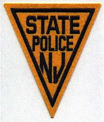 State: NJ, State Police (orange/blue,felt)