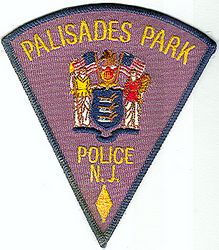 Palisades Park Police Patch (large triangle) (NJ)