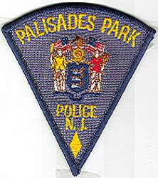 Palisades Park Police Patch (small triangle) (NJ)