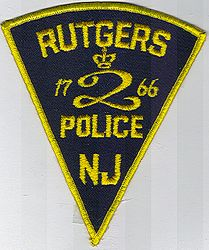 School: NJ, Rutgers Police Patch