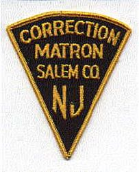 Salem Co. Corrections Matron Patch (NJ)