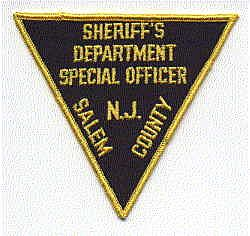 Sheriff: NJ, Salem Co. Sheriffs Dept. Spec. Officer Patch